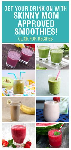 These smoothies are delicious and healthy! Get your drink on, ladies :)