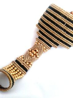 Unique handmade macramé slave bracelet by byLaughingBuddha on Etsy, €54.00