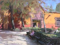 """""""Afternoon Shadows"""" oil painting by San Miguel artist Tom Dickson"""