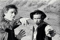 John Cassavetes and Peter Falk on set of A Woman Under The Influence