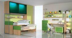 BADROOM - centri camerette specializzati in camere e camerette per ragazzi - cameretta a ponte con ante scorrevoli