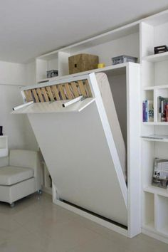 """Excellent """"murphy bed ideas space saving"""" detail is readily available on our internet site. Have a look and you wont be sorry you did. Space Saving Beds, Space Saving Furniture, Furniture Nyc, Pipe Furniture, Diy Furniture For Small Spaces, Murphy Furniture, Furniture Design, System Furniture, Furniture Dolly"""