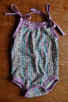 baby romper tutorial from prudent baby :)