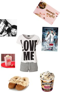 """Movie night with my brother Austin and his best friend Alex :P"" by pinkrose-ace123 ❤ liked on Polyvore"