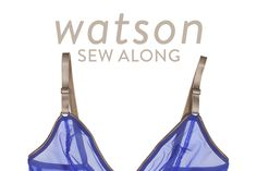 Watson Sew Along at Cloth Habit | step by step tutorials in sewing the bra and bikini