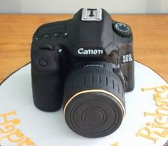canon birthday cake!! SOOO cute. I would be a little sad if they gave me a nikon...