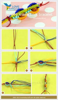 Making-snake-knot-bracelet