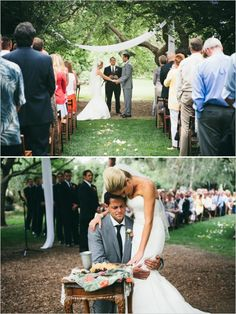 fabric draping - easy idea for your outdoor wedding by the big tree? Farm Wedding, Wedding Ceremony, Wedding Stuff, Wedding Photos, Dream Wedding, Wedding Day, Christian Weddings, Walk To Remember, Allure Bridal