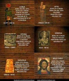 Jesus Pretty sure I've heard that one before-- attis, horus, comparative religion, dionysus, jesus, krishna, mithra