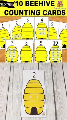 Preschool Number Activities, Preschool Bug Theme, Insect Activities, Sensory Activities Toddlers, Counting Activities, Preschool Printables, Preschool Lessons, Montessori Activities, Preschool Learning