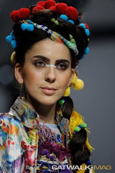 MARIA VYTINIDOU SS COLLECTION INSPIRED BY PEROU, CRETAN WEAVING ART AND SILK FROM SOUFLI Catwalk Mag ® | Athens Xclusive Designers Weaving Art, Turbans, Head Wraps, Athens, Summer Collection, Catwalk, Ss, Designers, Dreadlocks
