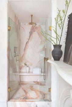 Like: book doors Abra Berens cookbook a pink marble bath ice cream . - Like: book doors Abra Berens cookbook a pink marble bath ice # Bookcase # Cook - Bathroom Interior Design, Interior Decorating, Decorating Ideas, Bad Styling, Bookcase Door, Marble Showers, Bathroom Goals, Bathroom Ideas, Bathroom Inspo