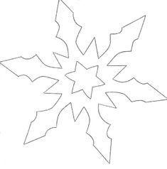 Snowflake Template, Star Template, Snowflake Pattern, Christmas Templates, Christmas Printables, Felt Christmas Ornaments, Christmas Crafts, Christmas Drawing, Paper Stars
