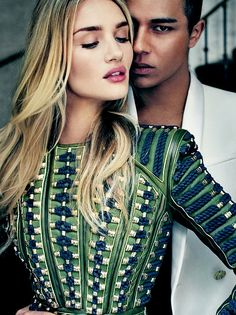 Rosie Huntington-Whiteley and olivier rousteing
