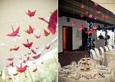Idées de Mariage de Melle AS - Origami et guirlande lumineuse