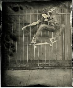Ian Ruhter captures action using the Civil War-era wet plate developing process. This is truly, truly amazing.