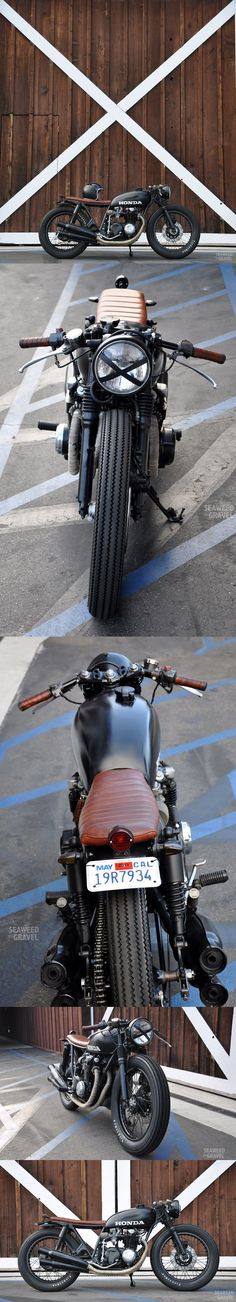 "CB550 custom build by Brady Young, love this bike but the ""HONDA"" is way too big."