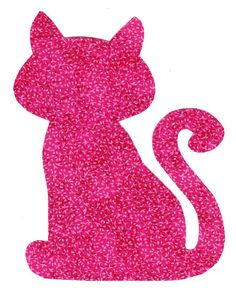 Iron on fabric kitty cat applique DIY by patternoldies