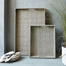 Mirror Serving Trays, Dining Trays and Round Trays | west elm