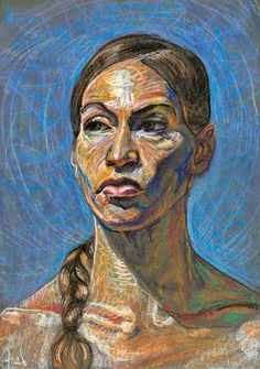 Rebecca by Fred Hatt, 2008, aquarelle crayon on paper, 29 1/2 x 19 3/4. Collection the artist.
