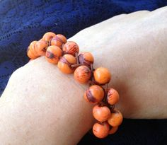 Organic Fairtrade Acai Bead and Braided Leather by BlomstDesigns