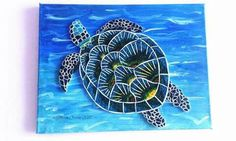 Quilled turtle sea by Maria Oroian