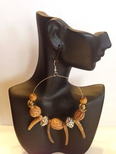 African Inspired Hoop Earrings by UniqueDesignsbyZee on Etsy, $15.00