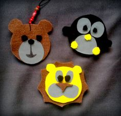 liikaa ideoita, liian vähän aikaa Felt Crafts, Diy And Crafts, Diy For Kids, Crafts For Kids, Miniatures, Christmas Ornaments, Cool Stuff, Holiday Decor, Bears
