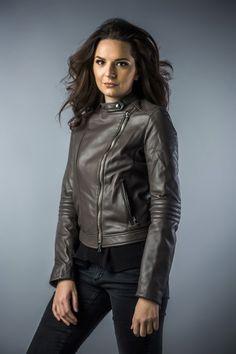 Leather jachet for women grey 2043 (2)