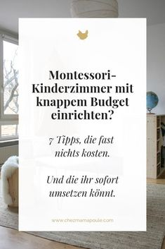 Montessori kids room set up TROTZ on a tight budget? 7 furnishing tips that cost almost nothing. - Set up children& room to Montessori despite a tight budget. We provide 7 suggestions on how t - Diy Montessori, Montessori Bedroom, Montessori Toddler, Montessori Kindergarten, Parents Room, Baby Zimmer, Nursery Wall Decor, Nursery Room, Tight Budget