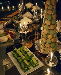 Holiday table decor w/ @colincowie - Macaron tree © 2012 Majid Inc.