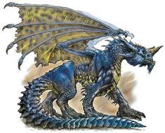 Dragón azul de DD.