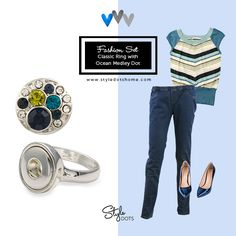 Classic Ring with Ocean Medley #styledots