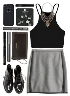 """""""Black Outfit ft. Vera Bradley Calf Hair Wristlet in Black"""" by yen-and-len ❤ liked on Polyvore featuring Vera Bradley, Yves Saint Laurent, J.Crew, Boohoo, Burberry, L'Oréal Paris, Topshop, NARS Cosmetics and Pieces"""