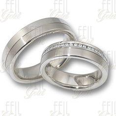 FEIL WFAu-120 Fehér Arany Karikagyűrű Wedding Bands, Make Up, Engagement Rings, Photo Ideas, Silver, Jewelry, Wedding Dresses, Enagement Rings, Shots Ideas