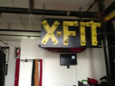 climbing board at X-FIT