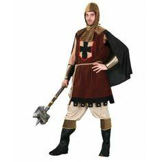 Disfraz de Caballero Medieval  El disfraz incluye: Tunica, pantalones, capucha y cubrebotas http://www.disfracessimon.com/disfraces-hombre-mujer-adultos/1397-disfraz-caballero-medieval-p-1397.html