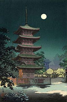 "Japanese Art Print ""Asakusa Kinryuzan"" by Tsuchiya Koitsu. Shin Hanga and Art Reproductions http://www.amazon.com/dp/B00VCGAYQG/ref=cm_sw_r_pi_dp_nfxswb0XFTN2G"