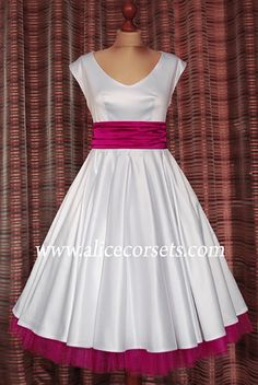 Wedding dress in the style of Pin up Alice Corsets