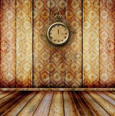 Antique clock face with lace on the wall in the room  photo (Inspiration)