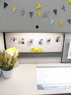 Cute idea for your work cubicle!
