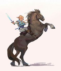 The Legend of Zelda The Legend Of Zelda, Legend Of Zelda Memes, Legend Of Zelda Breath, Fanart, Link Zelda, Horse Drawings, Twilight Princess, Breath Of The Wild, Horse Art