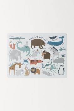 Rectangular table mat in MDF and cork. Laminated front with a print motif. Kitchenware Shop, Orange Gris, H & M Home, Animal Alphabet, Baby List, H&m Gifts, Bear Art, Modern Kids, Fashion Company