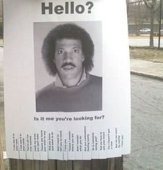 Lost and Found. This should be on every telephone pole everywhere! LOL