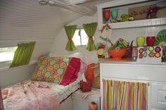 white & colours caravan