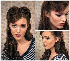 The Freckled Fox : Sweetheart Hair Week: Tutorial #2 - Retro Victory Rolls