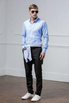 The Minimalist - KK184 Slim Fit Workwear Oxford Shirt