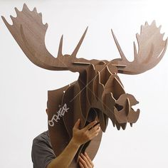 J&E High-end Width Moose head wall decor wooden craft self-build puzzle Aztec Home Decor, Anchor Home Decor, Safari Home Decor, 1960s Home Decor, Urban Home Decor, Elephant Home Decor, Diy Crafts For Home Decor, Mobile Home Decorating, Home Decor Fabric