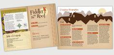 Fiddler on the Roof program on Behance