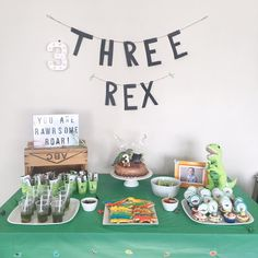 Planning a Dinosaur party for your RAWRSOME child? Check out all the details of my son's simple, yet effective Dinosaur themed birthday. 3rd Birthday Party For Boy, Dinosaur Birthday Party, Birthday Party Themes, Birthday Ideas, Dinasour Birthday, Frozen Birthday, Kids Party Themes, Party Ideas, Nature